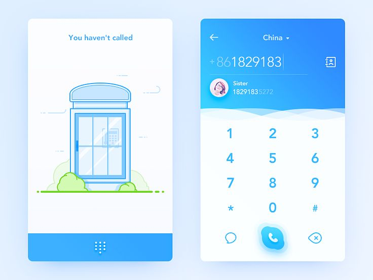 Daily UI #58 Redesign the dial UI of Skype. Skype app's detail is really well and I like it. I want to redesign the dial interface, with the emotional illustrations. Dial-up can associate to the ...
