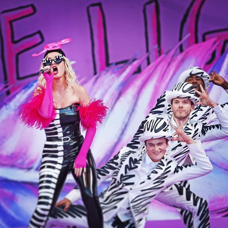 Katy Perry Performs On The Acura Stage During The New