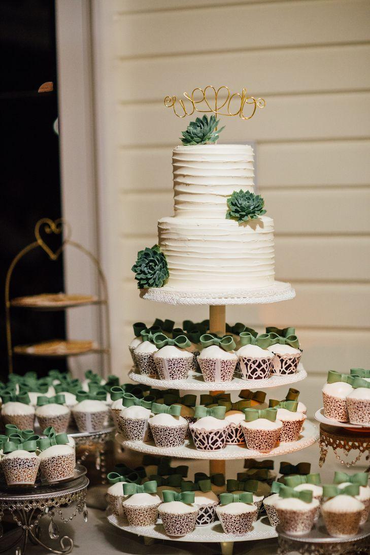 Ivory Cupcake And Wedding Cake Assortment Wedding Cakes