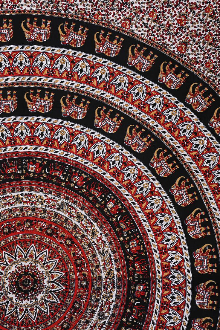 Magical Thinking Black Elephant Tapestry. Great for over your bed or on it!