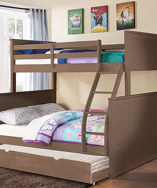 Sand Wash Charlotte Twin-over-Full Paneled Trundle Bunk Bed