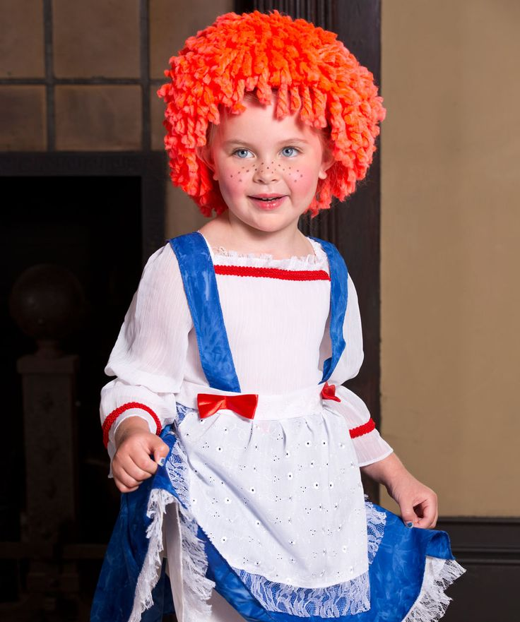 Rag Doll Wig Free Crochet Pattern from Red Heart Yarns #Halloween