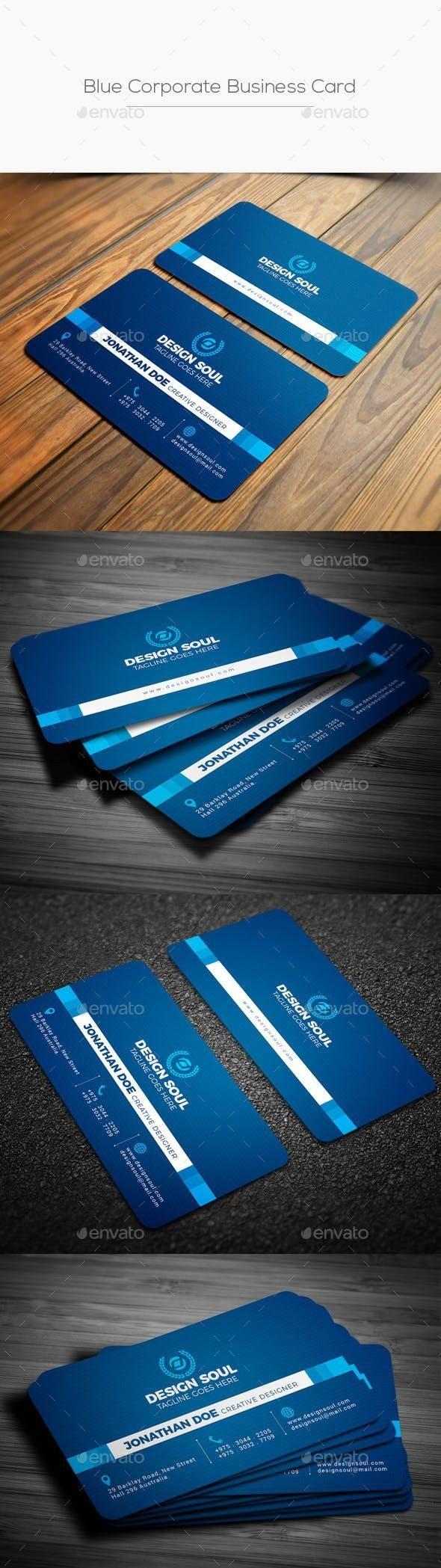 Blue Corporate Business Card Unique Business Cards Corporate Business Card Create Business Cards
