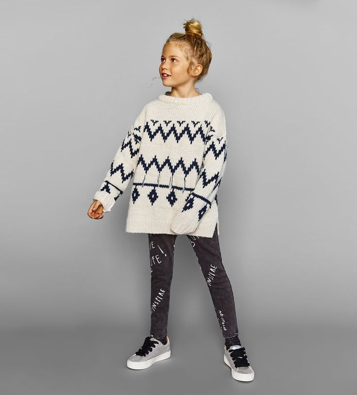 JACQUARD SWEATER-SWEATERS AND CARDIGANS-GIRL | 5 - 14 years-KIDS | ZARA United States
