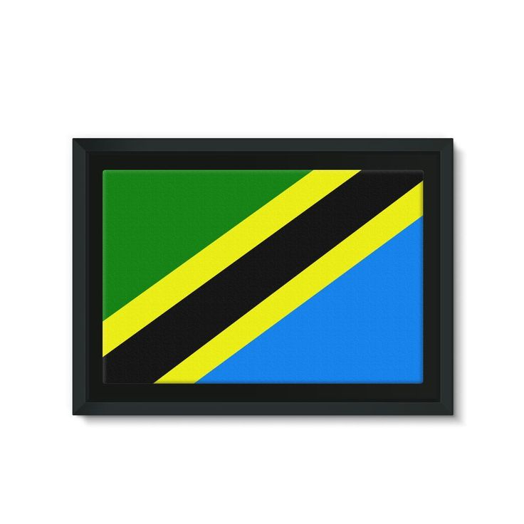 Flag of Tanzania Framed Eco-Canvas