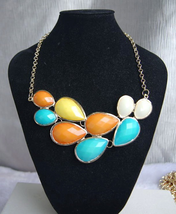 bubble statement necklace by Arkpearl on Etsy, $16.00: Bubbles Statement, Statement Necklaces