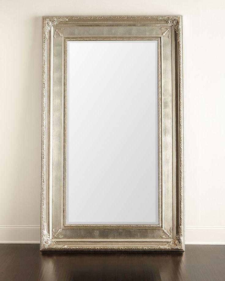 Prazzo Leaner Mirror, Silver