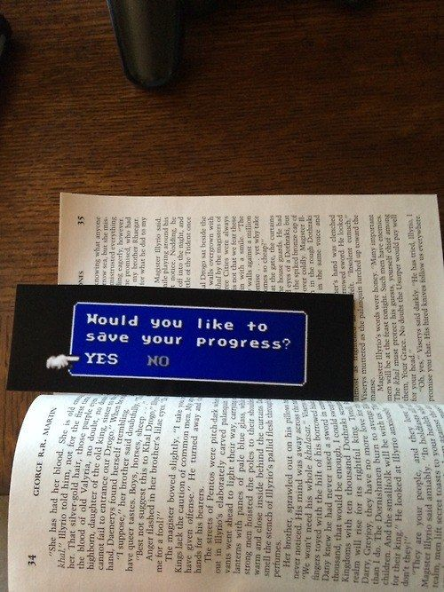 This playful Final Fantasy 7-inspired bookmark. | 24 Brilliant Bookmarks You Need In Your Life