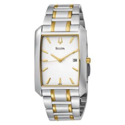 Relógio Bulova Men's 98B123 Bracelet White Dial Watch #Relogios #Bulova