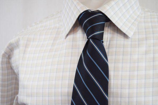 JOS. A. BANK Tan Tattersall Shirt: Medium & Ketch Tie
