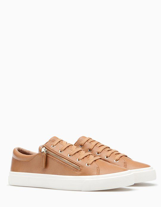 Plimsolls with zip detail - ALL - WOMAN | Stradivarius België / Belgique