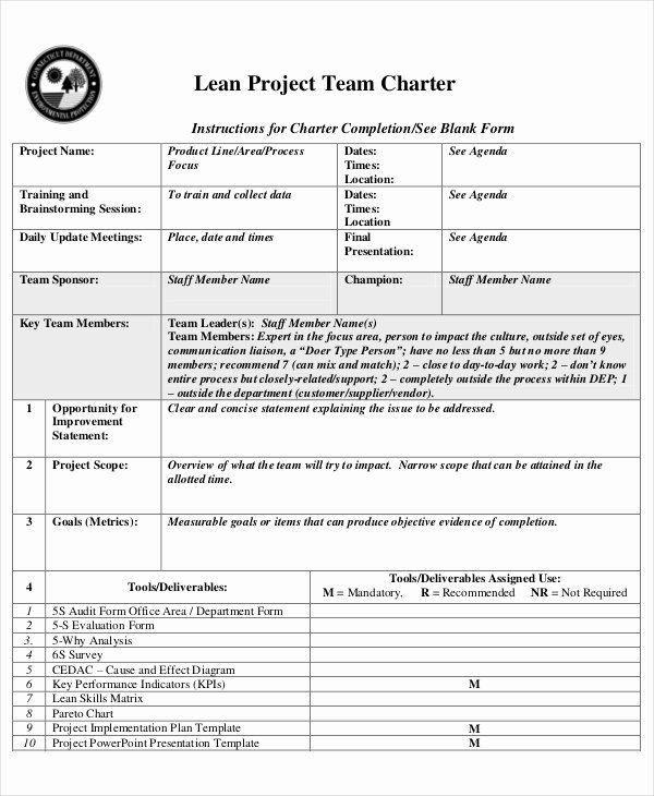 Project Charter Template Word In 2020 With Images Business