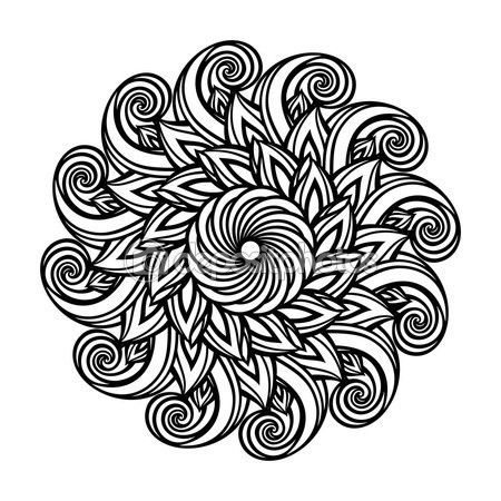 Zac, the hero of Ironclad Devotion, describes the tattoo-like marking on Kira's palms (the nexus of her magic) as looking like a mandala design of a flower-like circle of flames. This might be close. :) http://jamigold.com/ironclad-devotion/