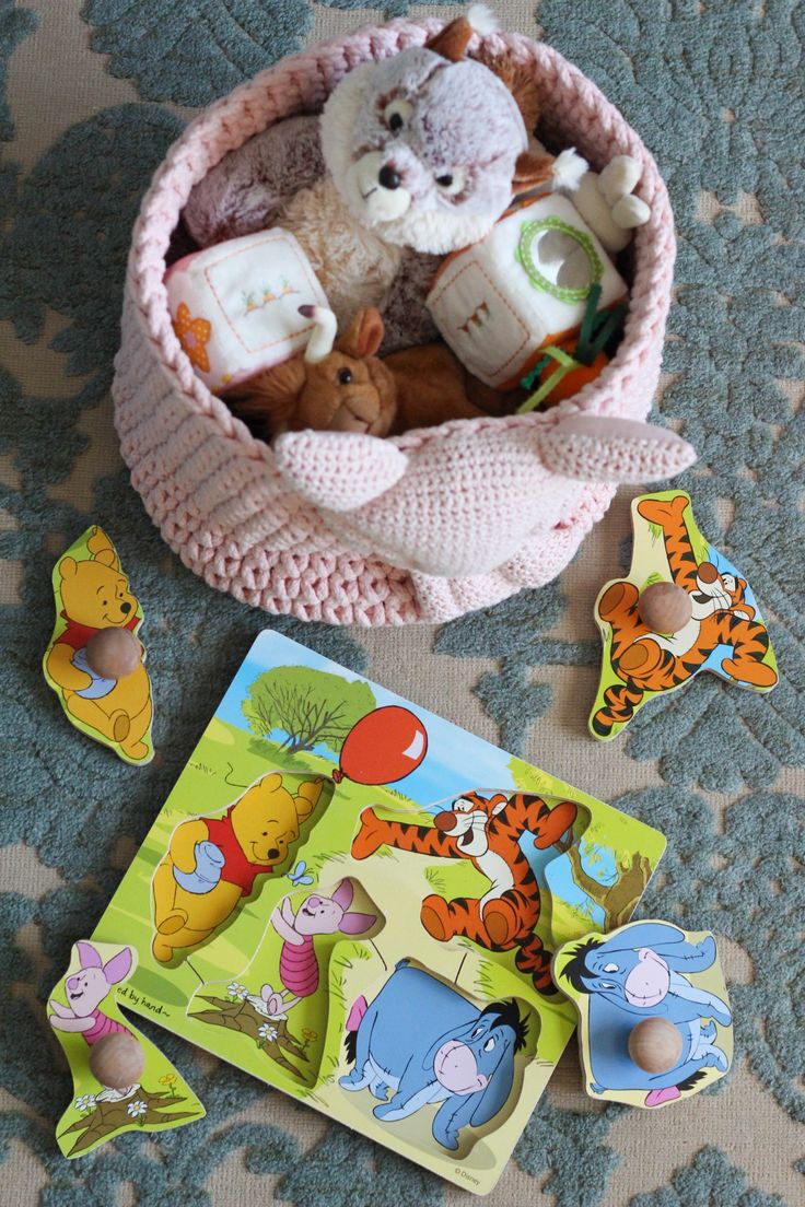 [ad] Disney's The Winnie the Pooh wooden puzzle is a playtime must! #DisneyBaby