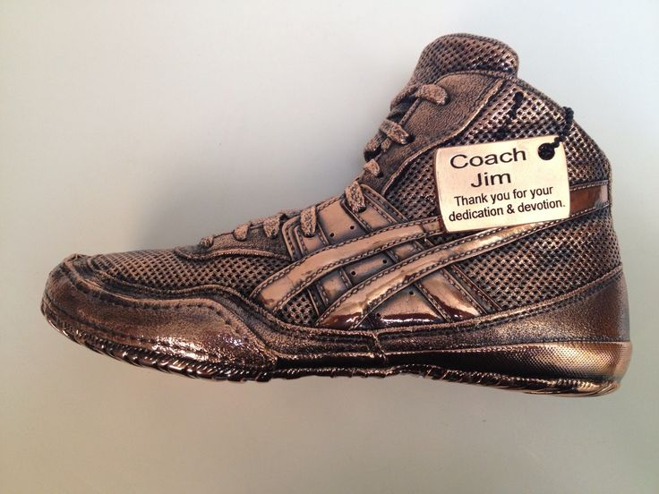 Bronzed Wrestling Shoe for our Coach