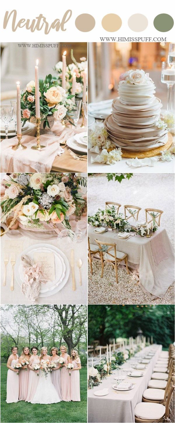 Wedding decorations outside house february 2019 Wedding Color Trends   Neutral Spring Wedding Color Ideas