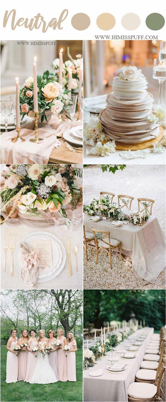 Wedding decorations 2019  Wedding Color Trends   Neutral Spring Wedding Color Ideas