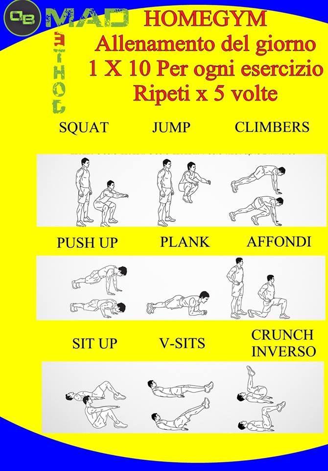 #Workout da fare a casa! Contattami se vuoi di più: http://www.danielebertaggia.it  #personaltrainer #DBMadMethod