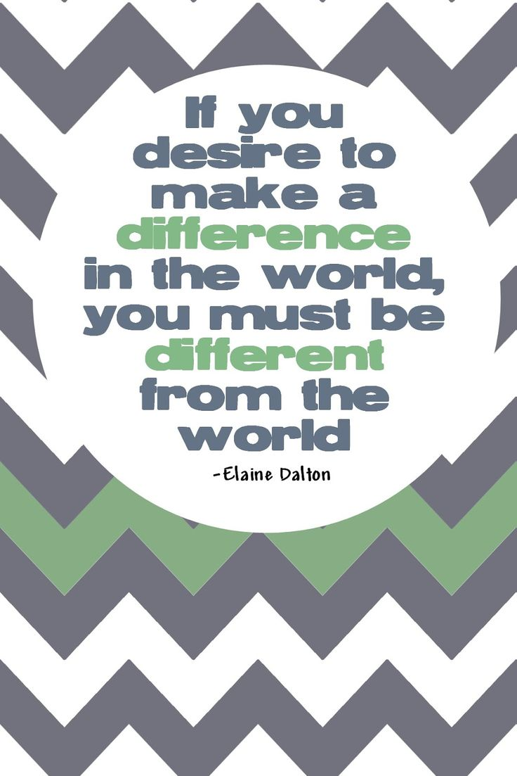 If you desire to make a differencet in the world, you must be different from the world. #truebeauty