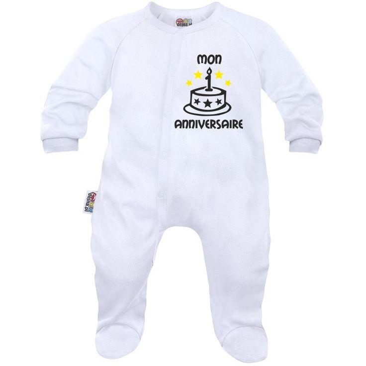 Pyjama bébé à personnaliser : mon 1˚ anniversaire