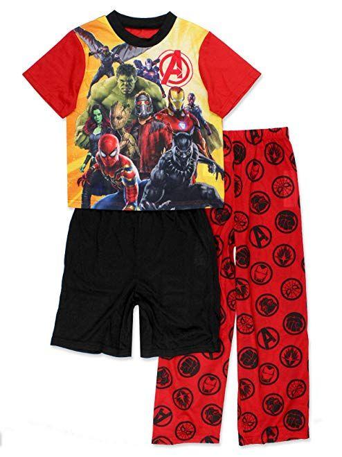Red Marvel Boys 3-Piece Short Set 7