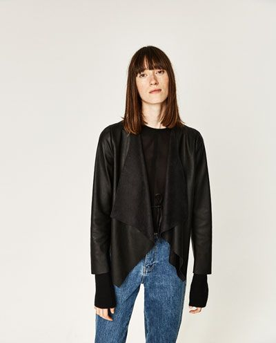 Image 2 of FAUX LEATHER JACKET from Zara