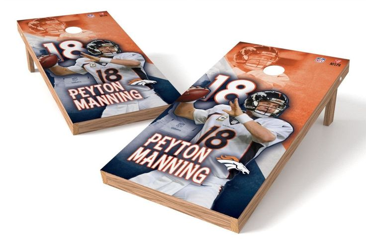 Peyton Manning NFL Cornhole Board Set (Denver Broncos) (w/Bluetooth Speakers)