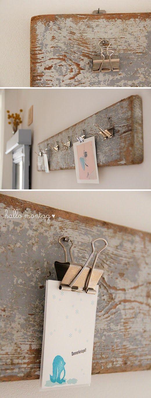 Treibholz wird Flurbrett / Driftwood becomes hallway plank / Upcycling Für den oberen Flur um Kinderbilder oder Postkarten aufzuhängen? ähnliche Projekte und Ideen wie im Bild vorgestellt findest du auch in unserem Magazin
