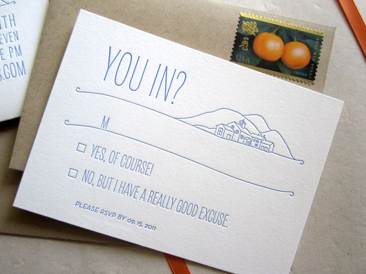 fun wedding rsvp | Unique California Modern Wedding Invitations RSVP 550x412 Claudine ...