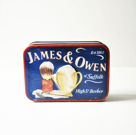 Vintage zilveren kraan Tin Box  st James & Owen door thelittlebiker