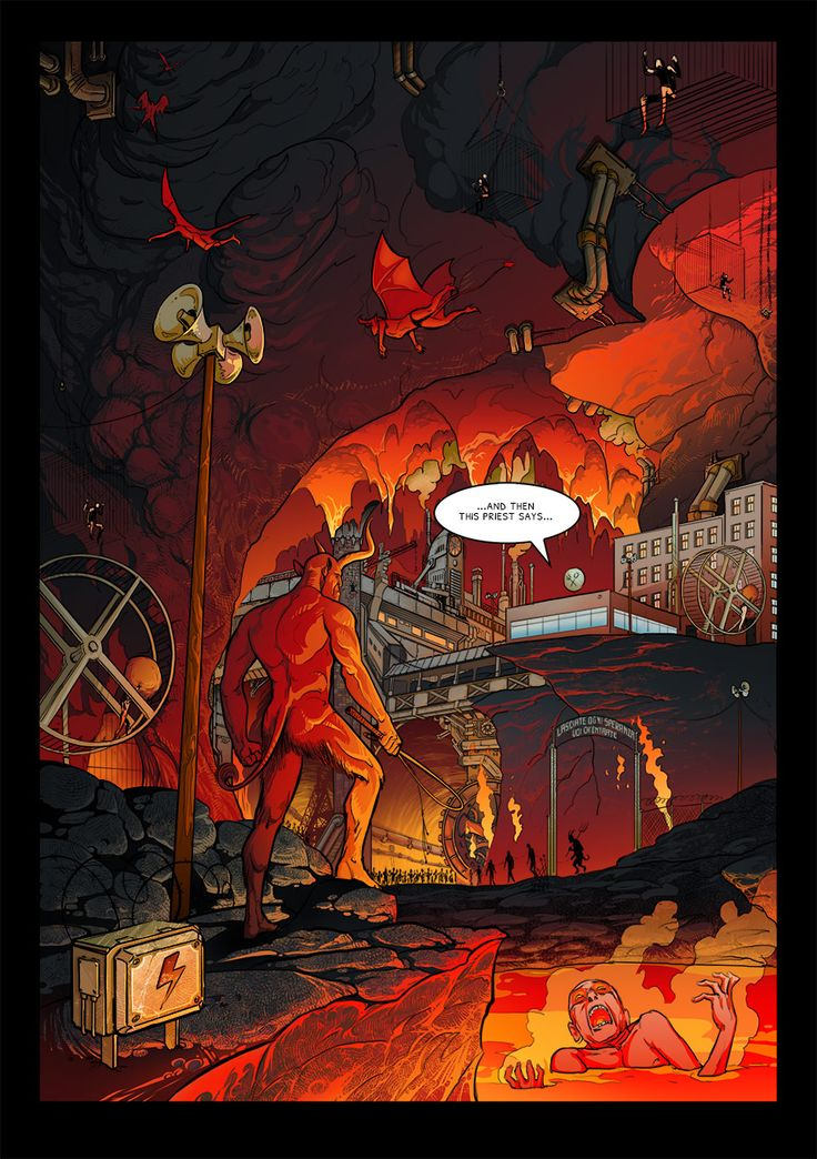 Graphic novel / Our Friend Satan / graphic novel and movie / Dominik L. Marzec