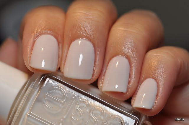 Essie - Marshmallow nail polish swatch, the perfect winter white. nails nailart