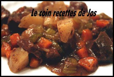 Le coin recettes de Jos: BOEUF AUX LÉGUMES (MIJOTEUSE)