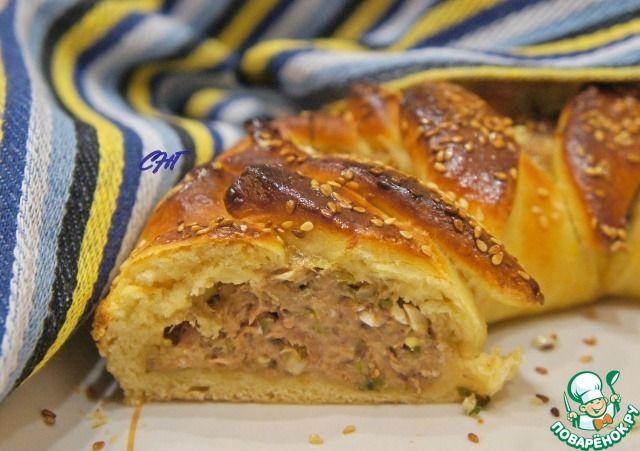 """Пирог с тунцом """"Ошеломительный"""" - кулинарный рецепт"""