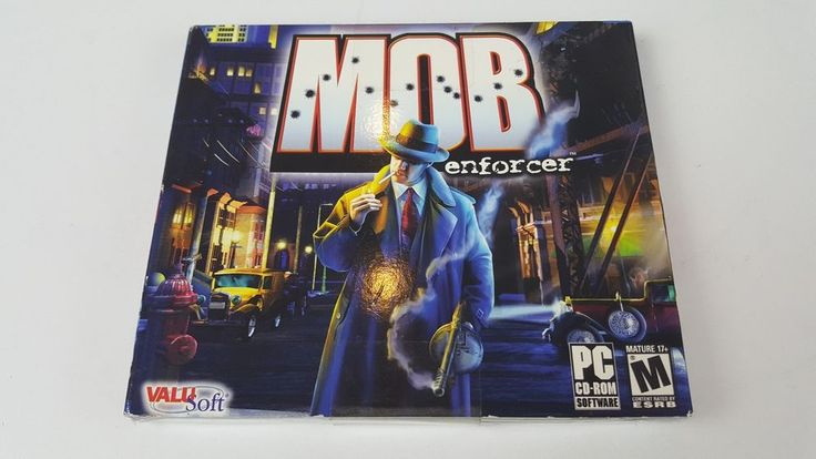 Mob Enforcer (PC, 2004) Godfather 1920's Chicago Shooter Windows 98/ME/XP #Valusoft