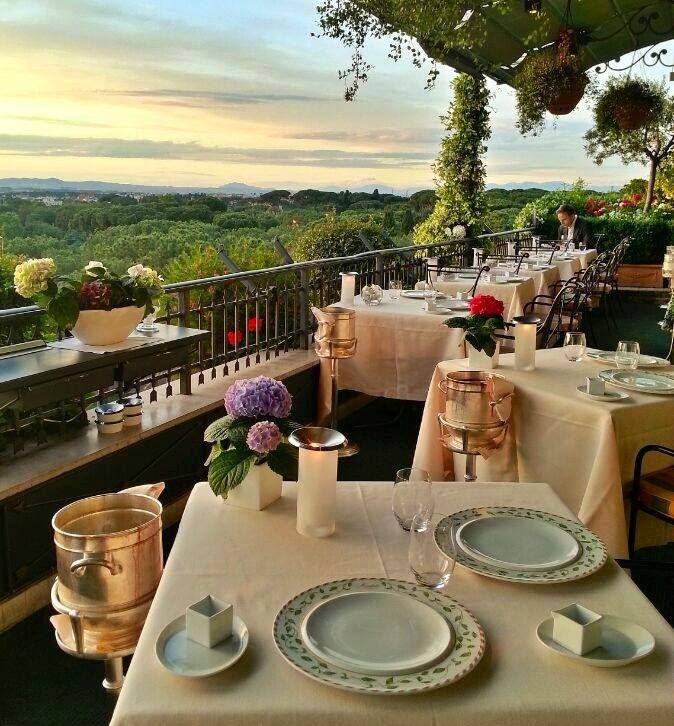 Best Romantic Restaurants In Rome Italy: Hotel Splendide Royal's Michelin-starred Mirabelle