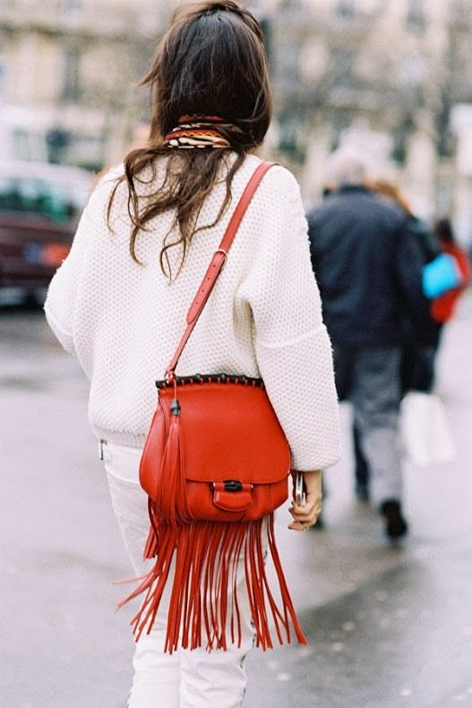 red fringe. More Gucci Bags, Paris Fashion, Fashion Weeks, Fringes Bags, Gucci Fringes, Street Style, 13 Fringes, Bags Ladies, Fringes Handbags Street Styl Vanessa Jackman: Paris Fashion Week AW 2014....Before Haider Ackermann 13 Fringe Bags To Carry This Weekend @Who What Wear - Consider yourself a bohemian? Great! A little western-inspired? Perfect! Love the '70s? Swell! No matter what personal style box you check, we've got a bag for you. We've gathered 13 versatile fringe bags that'll…