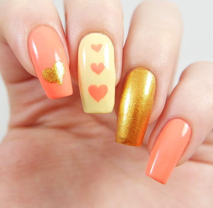 Triple Heart Nail Stencils