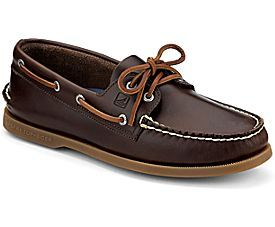 Sperry Top-Sider Authentic Original Cyclone Leather 2-Eye Boat Shoe | Brown