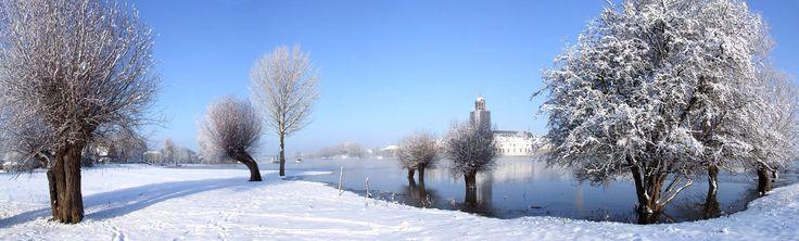 Sneeuw vanaf de Worp, Deventer