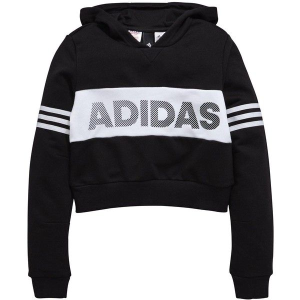 Adidas Older Girl Id Cropped Oth Hoody ($42) ❤ liked on