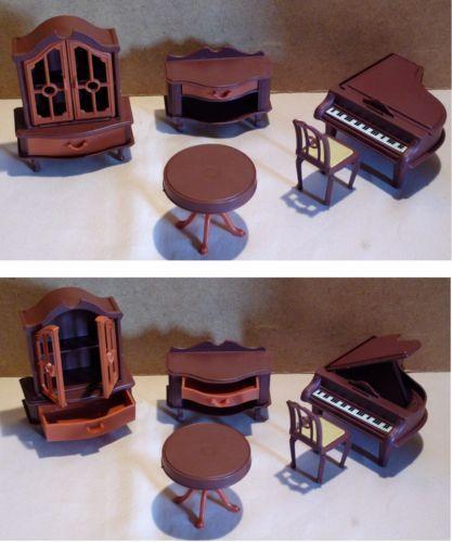 Mobilier-miniature-poupee-JEAN-GERMANY-piano-armoire-doll-furniture-wardrobe