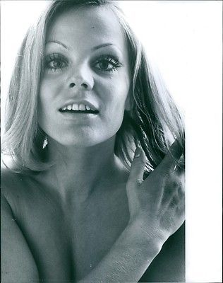 Vintage Photo Of Close Up Photograph Of Christiane Rücker.