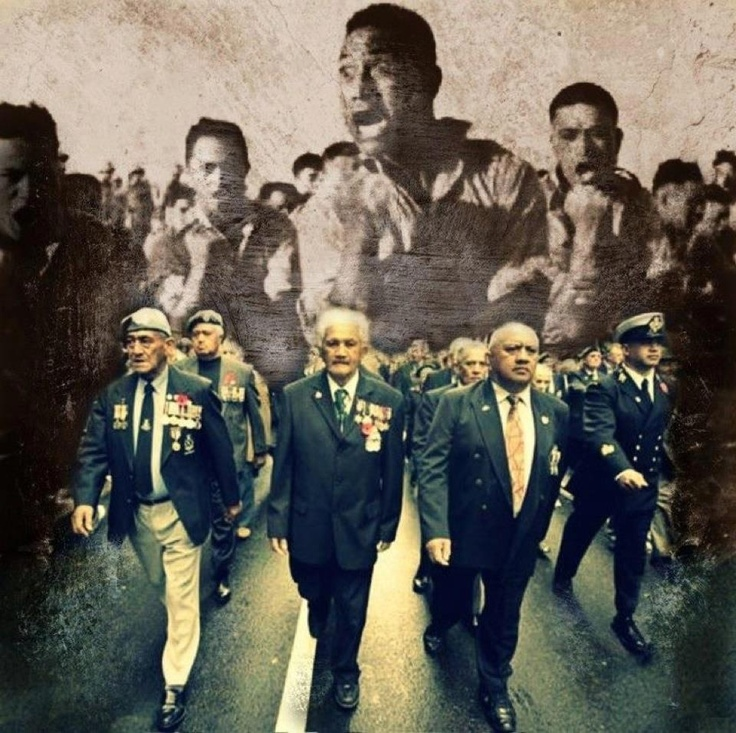 Two of my tupuna (ancestors), in ANZAC day march.