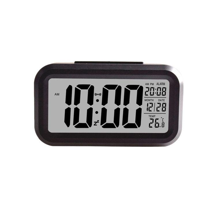 Zero Smart Simple Silent LED Alarm Clock Date Display Repeating Snooze Sensor Night Light