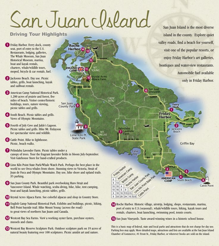 San Juan Island Map stayed a week on Orca Island.  It is area artsy area. Mom, Darlinda, Dad and Bud and I.