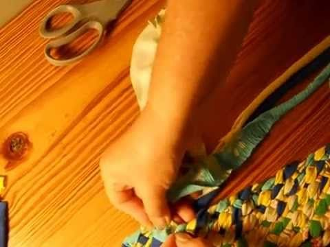 Lost Art of Braid-in Rag Rugs Part 1-This video is a general overview on how to make a 4 strand braid-in rag rug out of t-shirts. This type of rug making is some what a lost art.