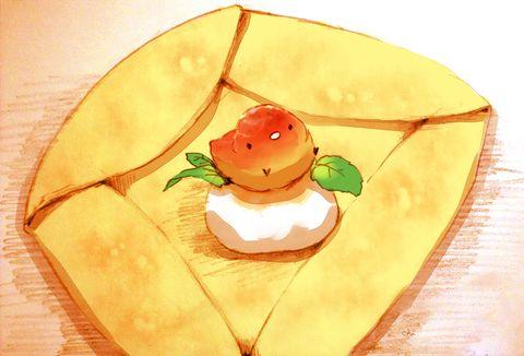 「焼きリンゴのガレット」/「チャイ」のイラスト [pixiv]