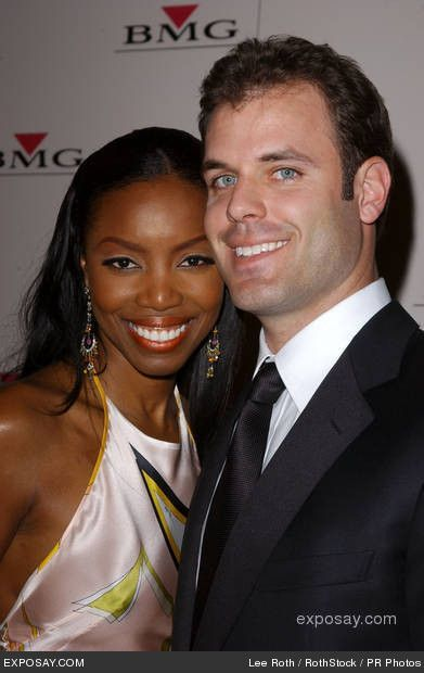 Heather Headley with husband Brian Musso. Brian is a retired NFL quarterback for the New York Jets. Gorgeous interracial couple! #love #wmbw #bwwm