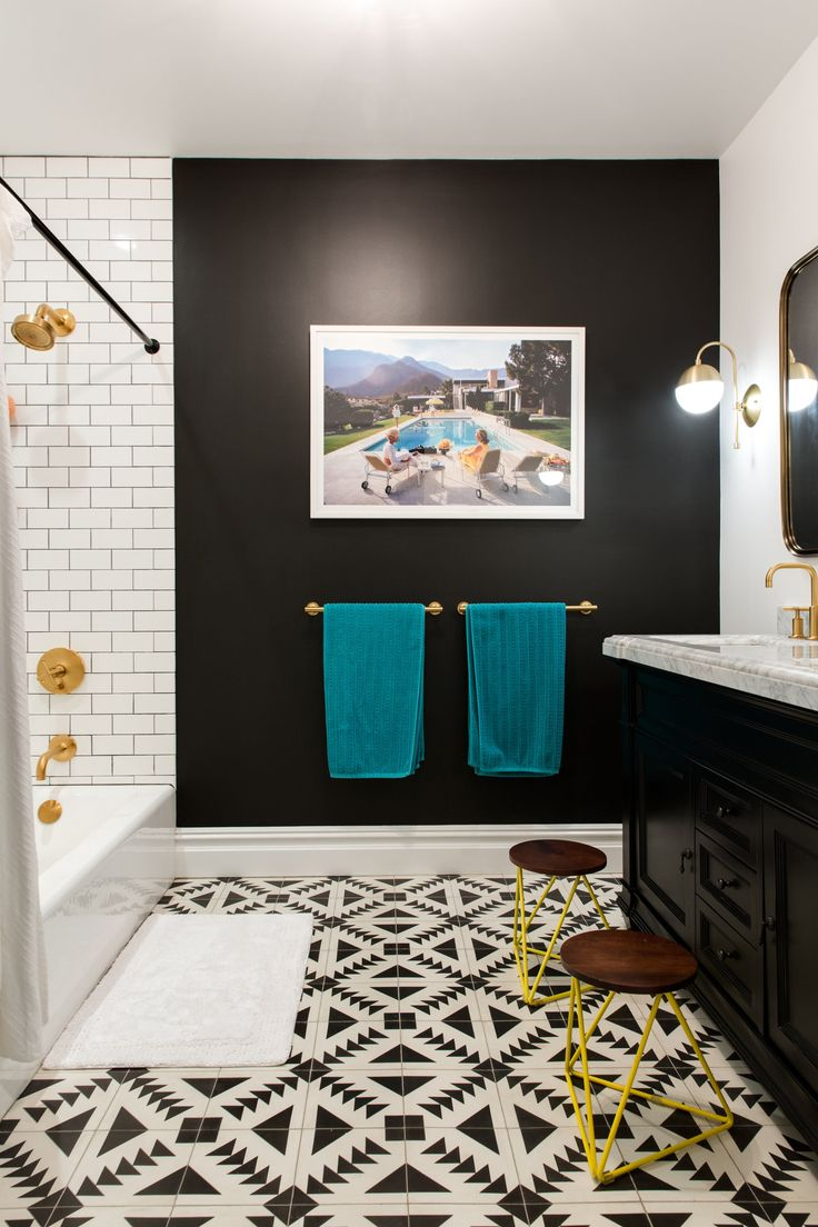 A Classic Brooklyn Brownstone Gets A Bold, Modern Face Lift. Brooklyn  Brownstone, Kid Bathrooms, Bathroom Ideas ... Part 69